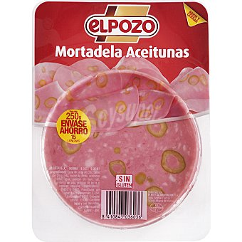 ElPozo Mortadela con aceitunas en lonchas Envase 250 g