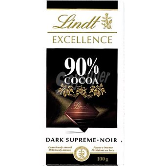 Lindt Chocolate negro Excellence 90% cacao Tableta 100 g