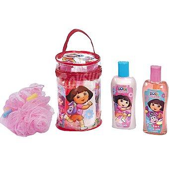 Dora La Exploradora Petate con gel de baño + champú 2 en + leche corporal frasco 236 ml 1 frasco 236 ml