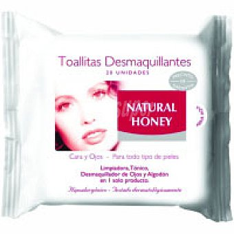 Natural Honey Toallitas desmaquilladoras faciales Paquete 30 unid