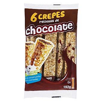 Guay Crepes con relleno de chocolate Paquete 6 u (192 g)