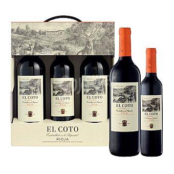 El Coto (2 Bot. 75 Cl + 1 Bot. 50 Cl.) Tinto 2017 Estuche 3 botellas