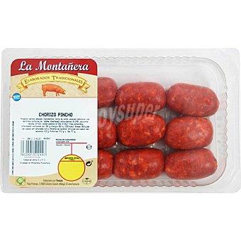LA MONTAÑERA Chorizos para pincho Bandeja 420 g