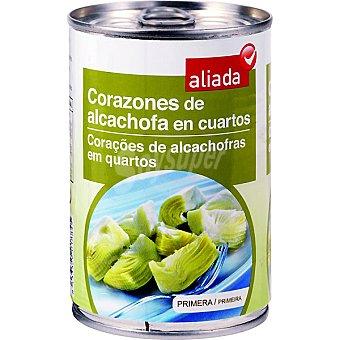 Aliada Alcachofa en cuartos al Natural Lata 240 g neto escurrido