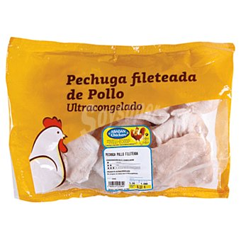 Pechuga de pollo fileteada congelada granel  Bolsa de 7 - 13 uds