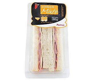 Auchan Sandwich de jamón york y queso 180 gr