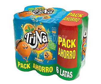 Trina Refresco de naranja Pack 6 Unidades de 33 Centilitros