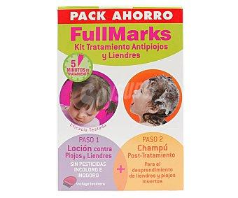 Full Marks Tratamiento antipiojos y liendres en 2 pasos fullmarks