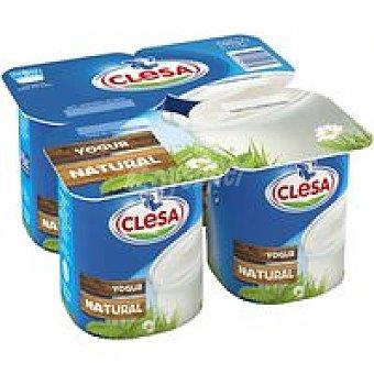 CLESA Yogur natural Pack 4x125 g