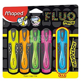 Maped Marcadores Fluorescentes Colores Surtidos 5 ud