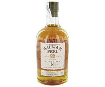 William Peel Whisky Pure Malt de 8 Años Botella 70 Centilitros