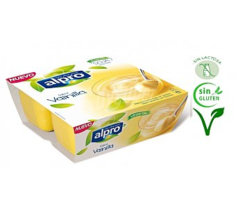 Alpro Asturiana Postre de soja sabor vainilla Pack 4x125 grs