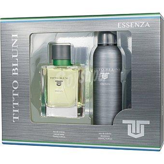 Titto Bluni Essenza eau de toilette natural masculina + desodorante spray 200 ml estuche 1 unidad spray 75 ml