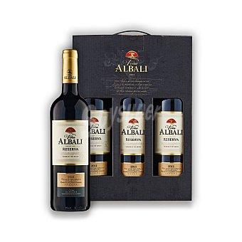 """Viña Albali Estuche de vino D.O. """"valdepeñas"""" tinto reserva Pack 3x75 cl"""