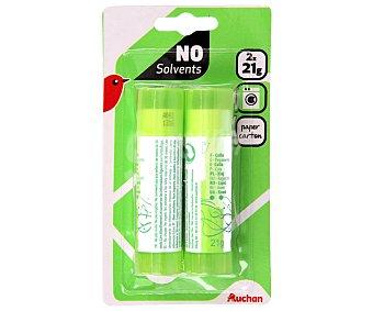 Auchan Lote de 2 barras adhesivas de 20 gramos 1 unidad
