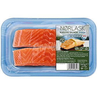 NORLASK Salmón fresco en lomos Bandeja 340 g (2 unidades)