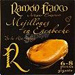 Mejillones de Galicia en escabeche 6-8 piezas gigantes Lata 78 g neto escurrido Ramón Franco