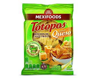 Mexifoods Nachos de maíz frito con sabor a queso 200 gramos