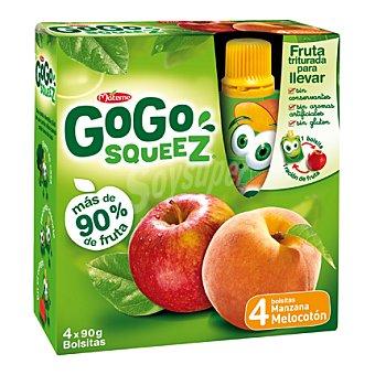 Gogo Squeez Manzana y melocotón triturados 4 ud