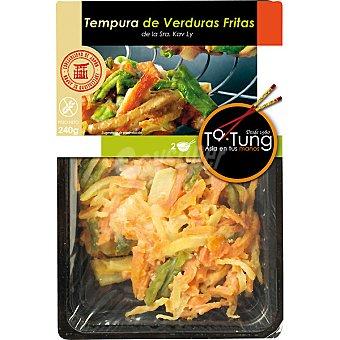 Ta Tung Tempura de verduras fritas Bandeja 240 g