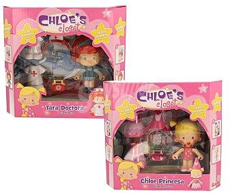 SIMBA Surtido de mini muñecas Chloe con vestidos y accesorios, princesa, jardinera o doctora 1 unidad