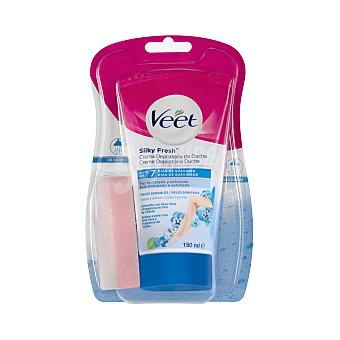 Veet Crema depilatoria de ducha, para cuerpo y piernas, especial pieles sensibles 150 ml