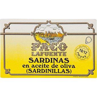 Paco Sardinillas en aceite de oliva 10-12 piezas Lata 85 g neto escurrido