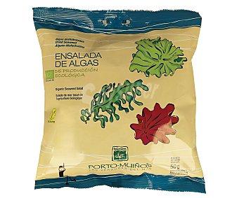 Porto Muiños Ensalada de algas deshidratadas (lechuga de mar (ulva spp), wakame (undaria pinnatifida) y nori (porphyra spp)) 50 gramos