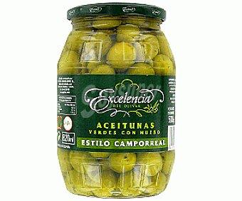 Excelencia Aceitunas verdes con hueso al estilo Campo Real 500 gramos