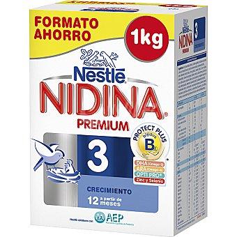 Nidina Nestlé Crecimiento leche en polvo Premium 3 a partir de 12 meses Envase 1000 g