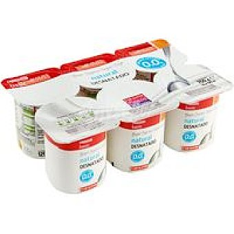 Eroski Basic Yogur desnatado natural Pack 6x125 g
