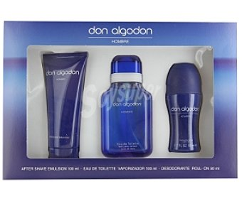 DON ALGODÓN Estuche ; After Sahve 100ml +Eau de Toilette 100ml+ desodorante 50ml 1 Unidad