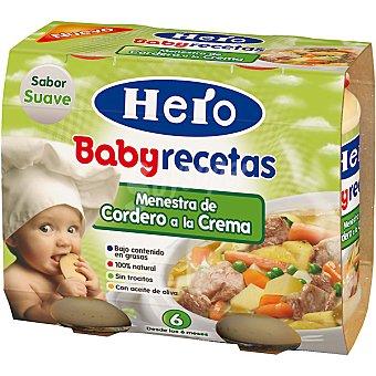 Hero Baby Menestra de cordero a la crema pack 2x200 g recetas Estuche 400 g