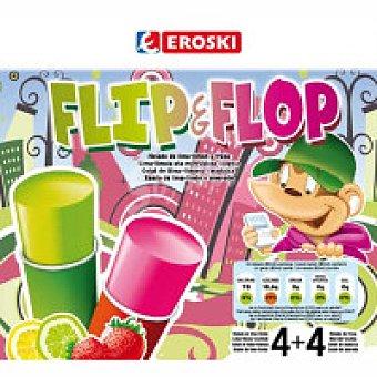 Eroski Mini helado de fresa-lima limón Pack 8x70 ml