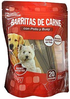 COMPY COMIDA PERRO SNACK PALITOS CARNE CON POLLO Y BUEY 20 x 10 g