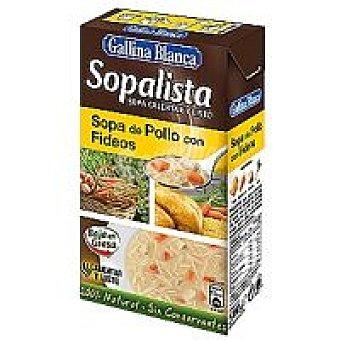 Gallina Blanca Sopalista de pollo con fideo Brik 525 ml