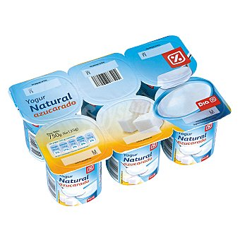 DIA Yogur natural azucarado Pack 6 unidades 125 g