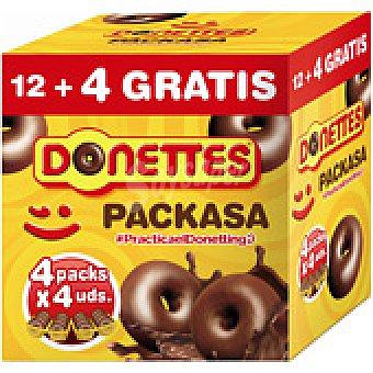 Donettes Donettes clásicos packasa (12+4 unidades)