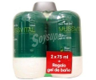 MUSSVITAL Desodorante Roll-On con té verde y aloe vera pack 75+75