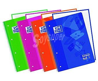 Oxford Cuaderno A4 con cuadrícula de 5x5 mm, 80 hojas de oxford 90 g