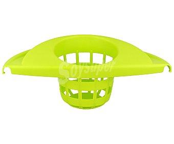 ARAVEN Cubo fregasuelos redondo con escurridor color verde y negro 12 litros