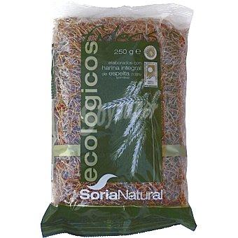 Soria Natural Fideos elaborados con harina integral de espelta ecológico Envase 250 g