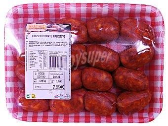 Martínez Loriente Chorizo aperitivo picante fresco Bandeja 400 g peso aprox.