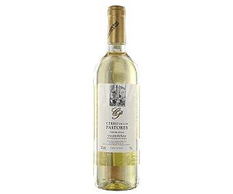CERRO de los PASTORES Vino blanco airén con denominación de origen Valdepeñas Botella de 75 centilitros
