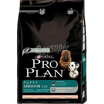 PURINA PRO PLAN PUPPY SENSITIVE Alimento especial para cachorros de cualquier raza de piel sensible con salmon y arroz bolsa 3 kg Bolsa 3 kg