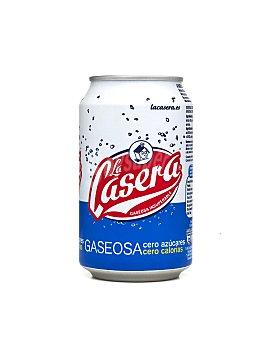La Casera Gaseosa cero calorías Lata 33 cl