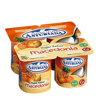 Central Lechera Asturiana Yogur sabor macedonia Pack de 4x125 g