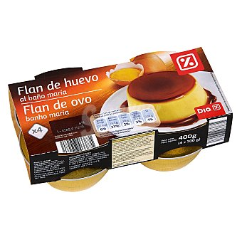 DIA Flan de huevo Pack 4 unidades x 100 gr