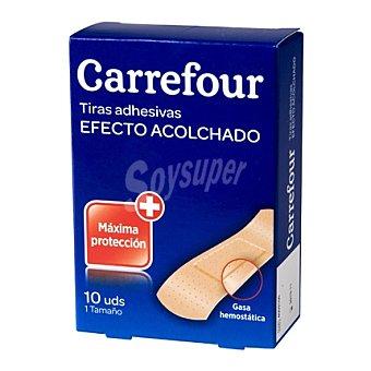 Carrefour Tiras adhesivas efecto acolchado 10 unidades