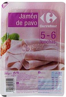 Carrefour Jamon pavo lonchas 200 g